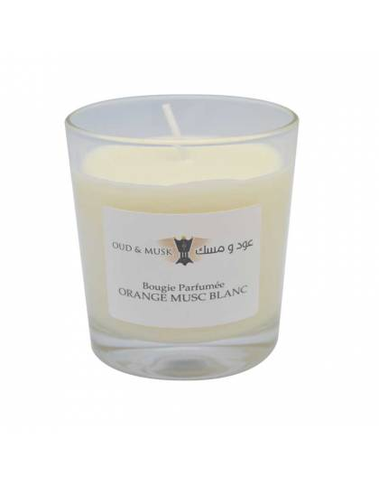 Orange White Musk Scented Candle