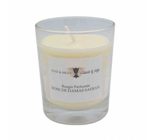 Damask Rose Scented Candle
