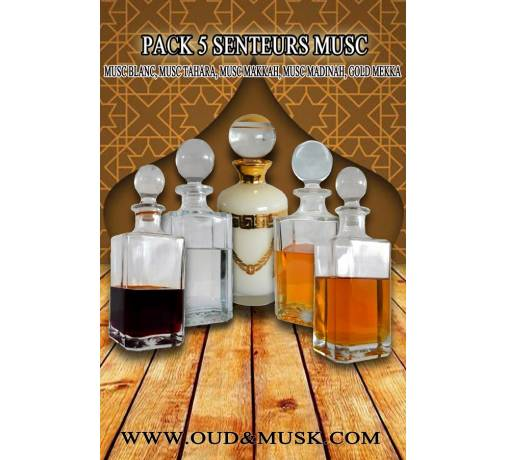 Pack of 5 Musk fragrances
