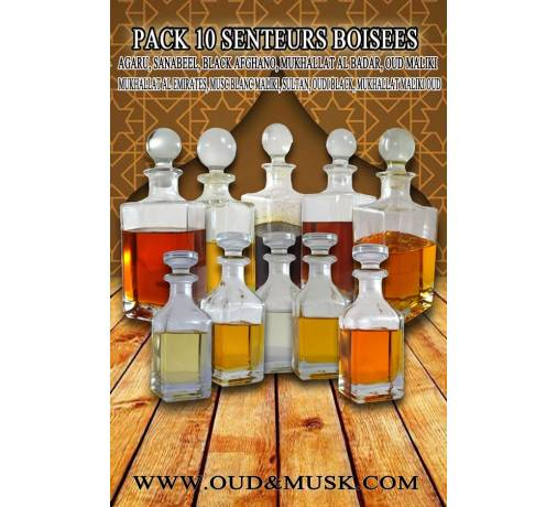 Pack of 10 woody scents