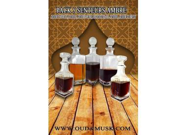 Pack of 5 amber scents