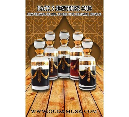 Pack of 5 oudh scents